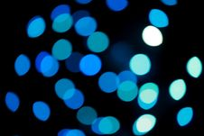 Free Defocused Blue Christmas Lights Stock Images - 6679694