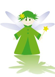 Cartoon Figure Of Little Fairy Stock Photo