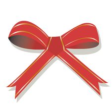 Free Red Bow With Golden Stripes Royalty Free Stock Photo - 6679995