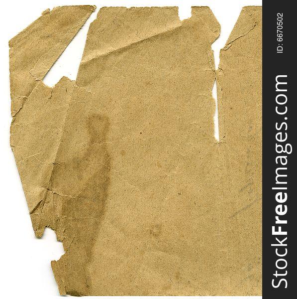 Aged letter paper