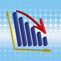 Free 3D Graph Decline Royalty Free Stock Image - 6687456