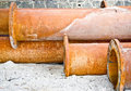 Free Rusty Industrial Water Pipes Royalty Free Stock Images - 6689009