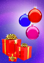Free Colorful Christmas Balls With Gift Boxes Set Stock Photos - 6689643