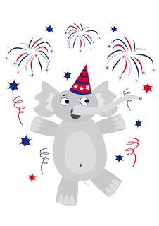 Free Happy Elephant Royalty Free Stock Photos - 6680138
