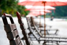 Free Close Up Of Beach Chairs Royalty Free Stock Photography - 6680517