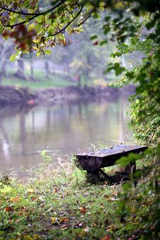 Free Bench On The River Royalty Free Stock Image - 6680966