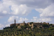 Free The Medieval Town Of Pienza Royalty Free Stock Image - 6682056
