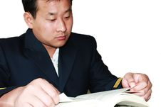 Free Man Reading Stock Photos - 6682913