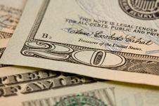 Detail Of 20 Dollar Bill Corner Stock Photo