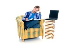 Free Boy Doing Homework Royalty Free Stock Photos - 6684028