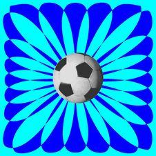 Free Soccer Sunburst Stock Photography - 6684882