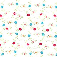 Free Fresh Tiny Flower Pattern On White Background Royalty Free Stock Photography - 6684977