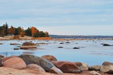Finnish Gulf Shore In Autumn Stock Photos