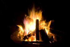 Blazing Bonfire Royalty Free Stock Photos