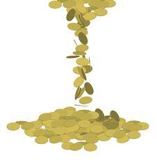 Free Falling Coins Stock Photos - 6687413