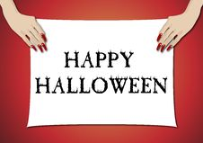 Free Hands Holding Halloween Sign 4 Royalty Free Stock Photos - 6687418