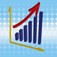 Free 3D Graph - Success Stock Images - 6687474