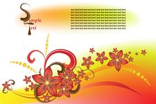 Free Vector Flower Background Stock Photos - 6688173