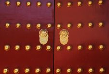 Door Of Chinese Ancient Building Stock Image