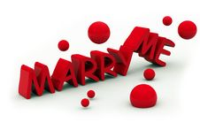 Free Marry Me Text Stock Photo - 6688300