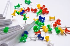 Push Pins And Paper Royalty Free Stock Photography