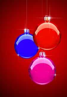 Colorful Christmas Balls Stock Photos