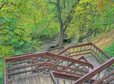 Free Stair In Autumn Park Stock Photo - 6689320