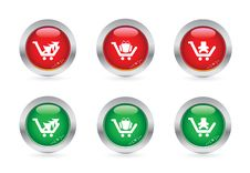 Free Christmas Shopping Buttons Stock Images - 6689484