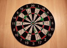 Free Three Darts In Dartboard Stock Photo - 6689500
