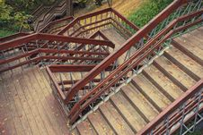 Free Stair In Autumn Park Royalty Free Stock Image - 6689986