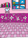 Free Young Girls Room Vector Stock Photos - 6695133