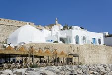 White Medina Over Old Wall Royalty Free Stock Photo