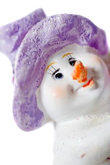 Free Snow Man Toy Close Up Stock Photography - 6690842