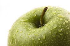 Free Green Apple With Water Drops Stock Photography - 6691092