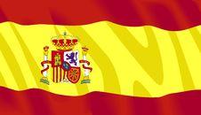 Vector Spanish Flag Royalty Free Stock Photography