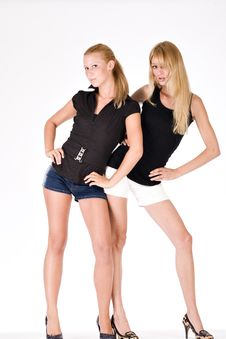 Free Two Sisters Posing Fashion Style Stock Photo - 6691260