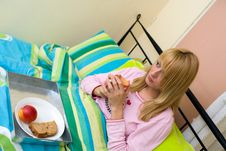 Free Breakfast In Bed Seen From A High View Royalty Free Stock Photography - 6691517