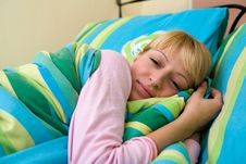 Free Beautiful Girl Feeling Sleepy Stock Images - 6691564