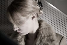 Free Portrait Of A Depressed Blond Girl Royalty Free Stock Images - 6691679
