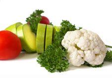 Free Fresh Raw Vegetables On White Royalty Free Stock Photos - 6693018