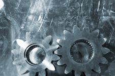Free Gears In Titanium Royalty Free Stock Photos - 6693758