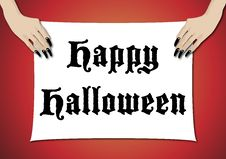 Free Happy Halloween Sign 3 Stock Images - 6694594
