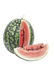 The Cut Water-melon. Isolated. Stock Image