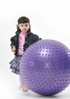 Girl And Ball Royalty Free Stock Photography
