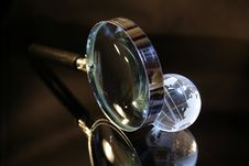 Free Glassy Globe And Magnifier Royalty Free Stock Photos - 6696548