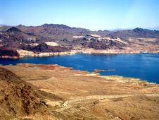 Free Aerial View Of Lake Mead Stock Image - 6696681