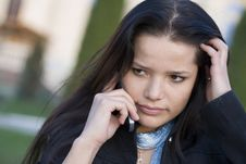 Free Girl Talking By Phone Royalty Free Stock Photos - 6696958