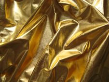 Free Golden Metallic Fabric Royalty Free Stock Photography - 6697377