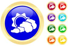Free Sun And Cloud Icon Stock Photo - 6697680
