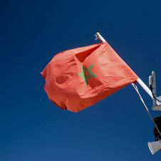 Free Moroccan Flag Royalty Free Stock Photo - 6698025